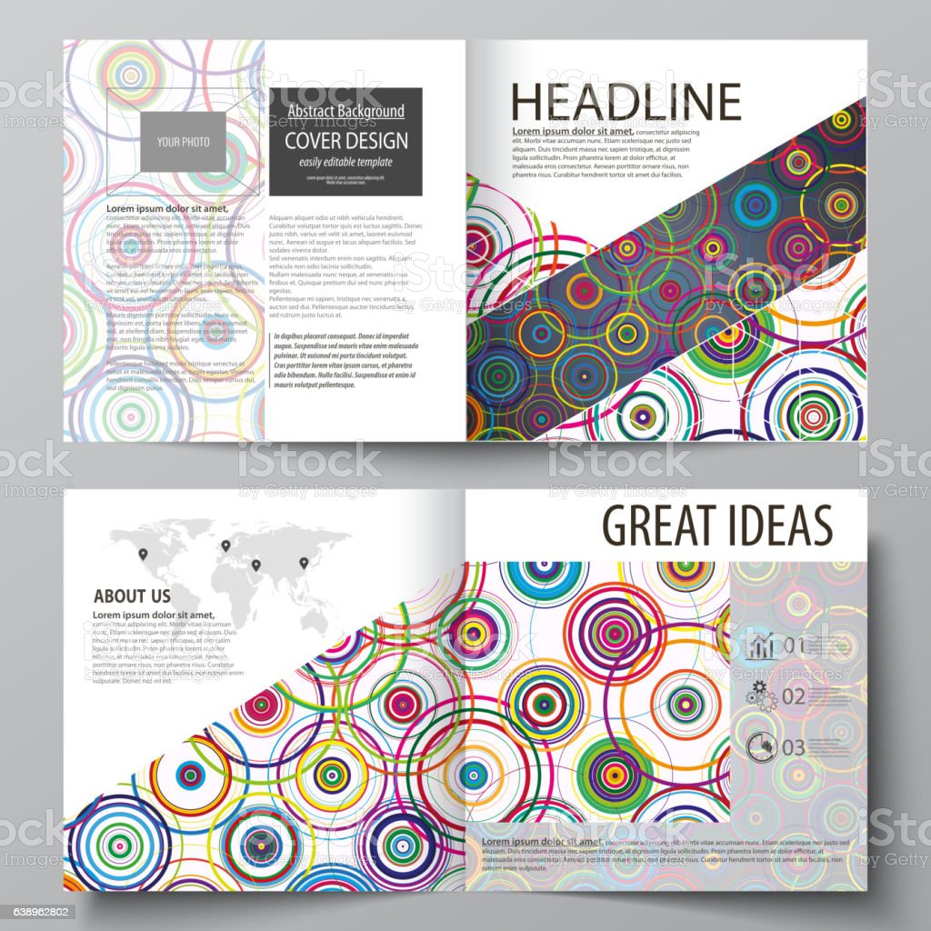 business templates for square design bi fold brochure flyer booklet