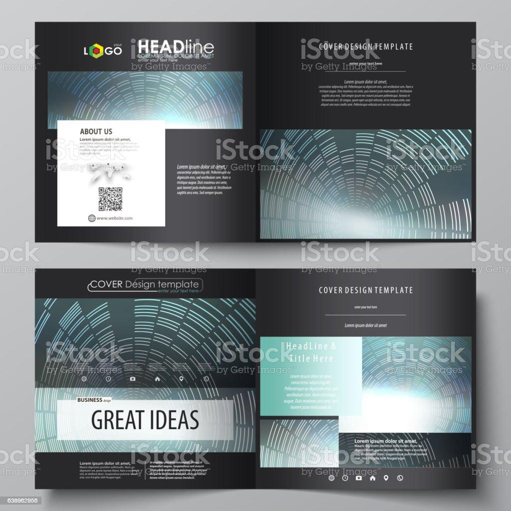 business templates for square design bi fold brochure flyer booklet