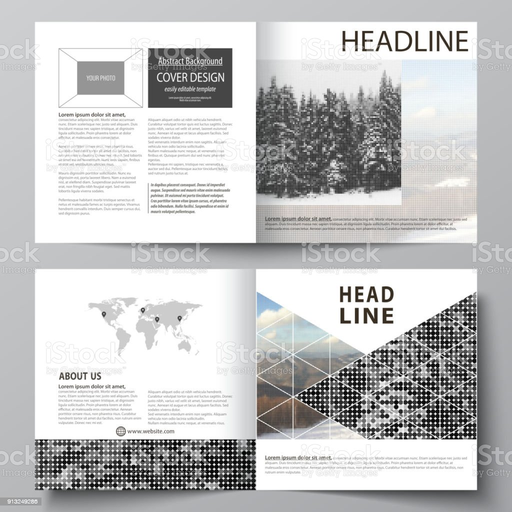 Business Templates For Square Design Bi Fold Brochure Flyer Booklet ...