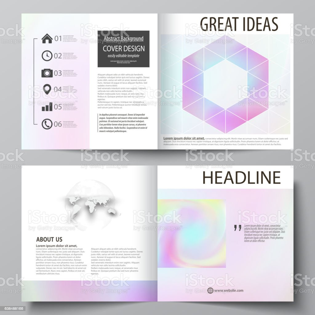 business templates for square design bi fold brochure flyer leaflet