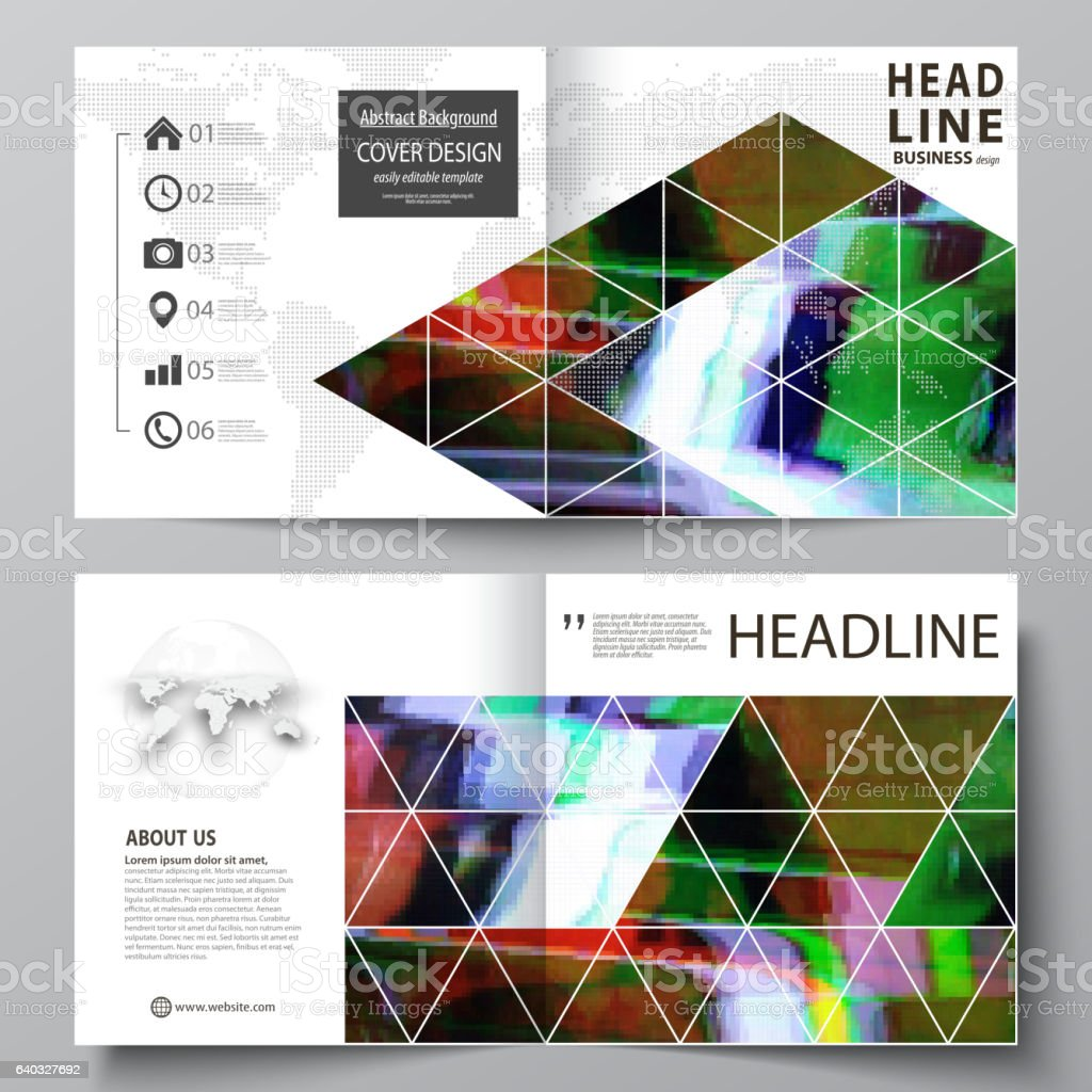 business templates for square design bi fold brochure flyer report