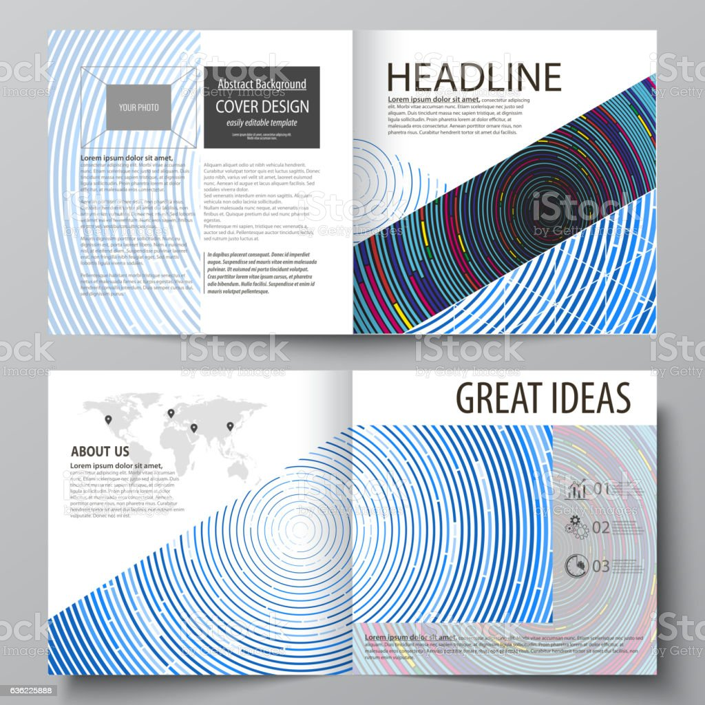 business templates for square design bi fold brochure magazine flyer