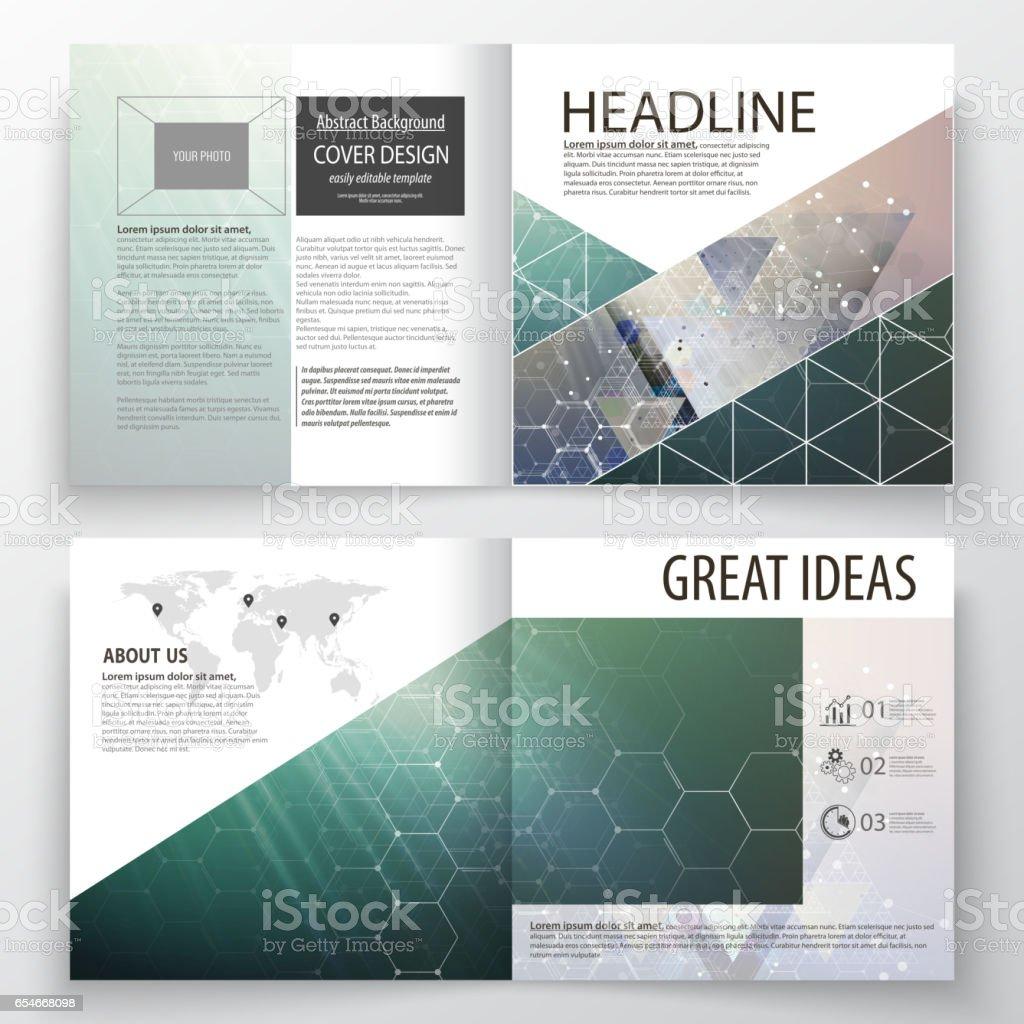 Design Science Journal Cambridge: Business Templates For Square Design Bi Fold Brochure