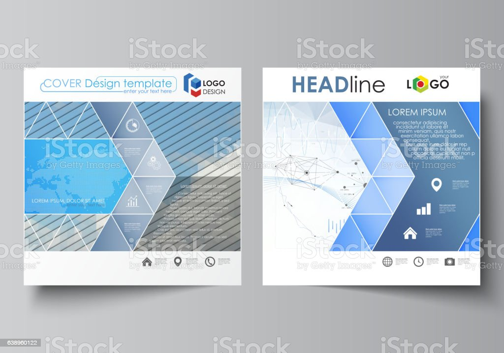 Business Templates For Square Design Brochure Flyer Annual Report