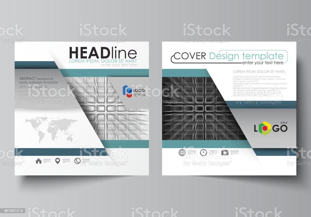 Business Templates For Square Design Brochure Flyer Booklet Report ...