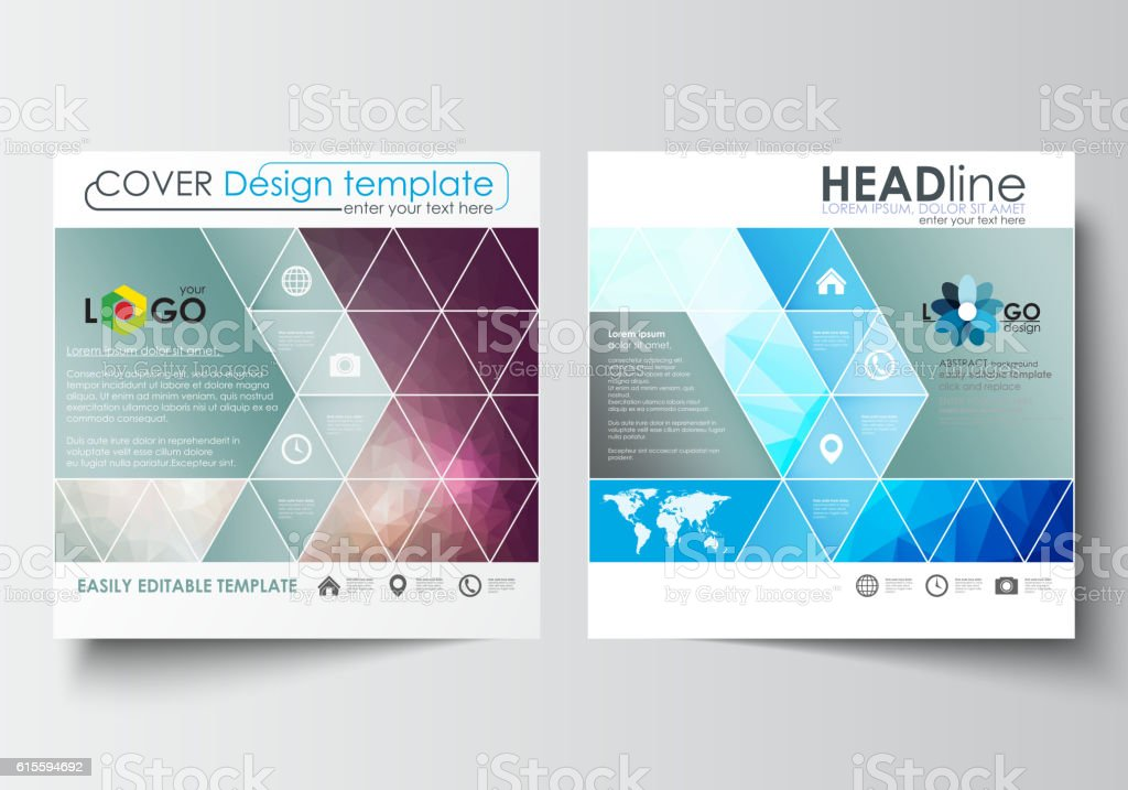 Business Templates For Square Design Brochure Magazine Flyer Booklet