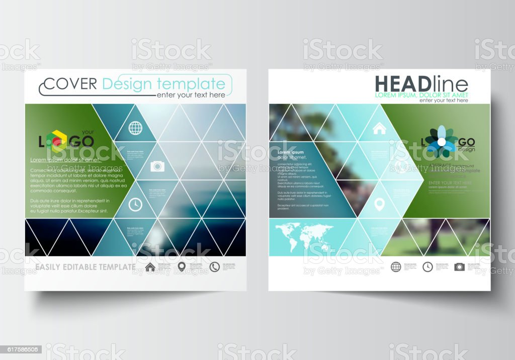 business templates for square design brochure magazine flyer or