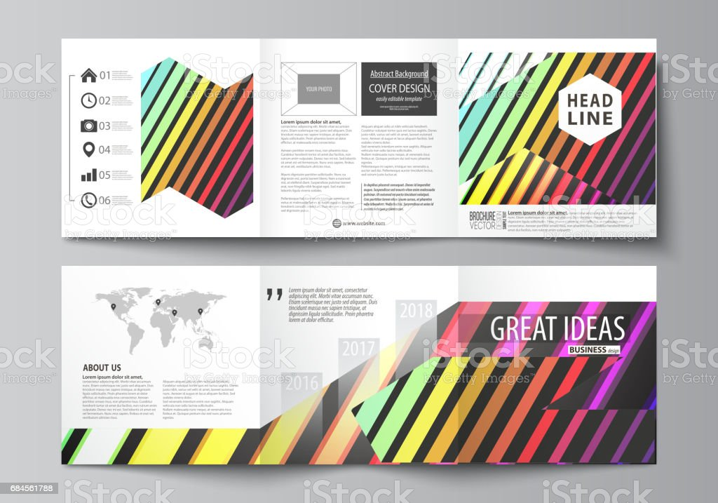 business templates for tri fold square brochures leaflet cover
