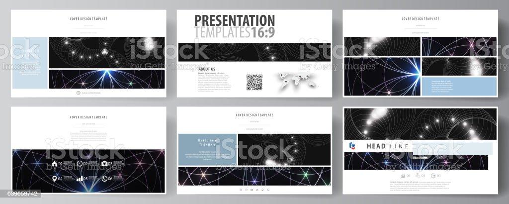 Plantillas de negocios en formato HD para diapositivas de la presentación. Fácil de editar - ilustración de arte vectorial