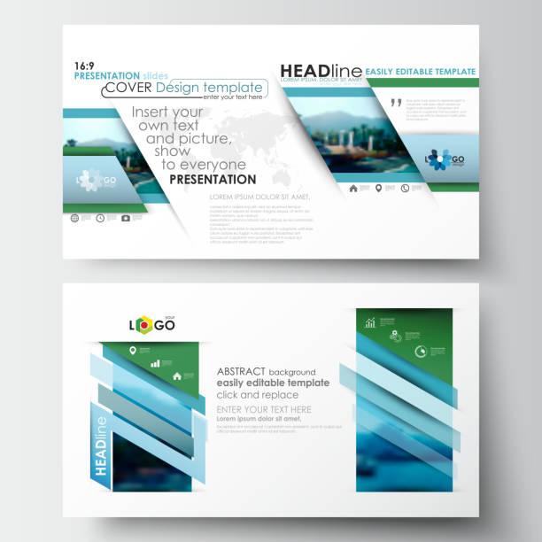 business templates in hd format for presentation slides. flat design - bildformate stock-grafiken, -clipart, -cartoons und -symbole
