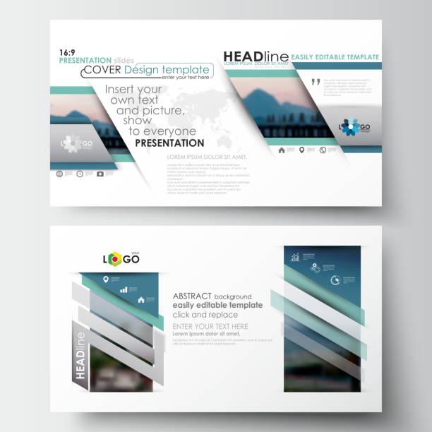 business-vorlagen im hd-format für präsentationsfolien. schön flach - bildformate stock-grafiken, -clipart, -cartoons und -symbole