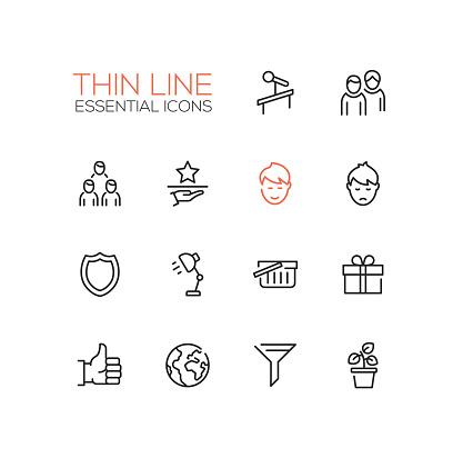 Business - Thin Single Line Icons Set