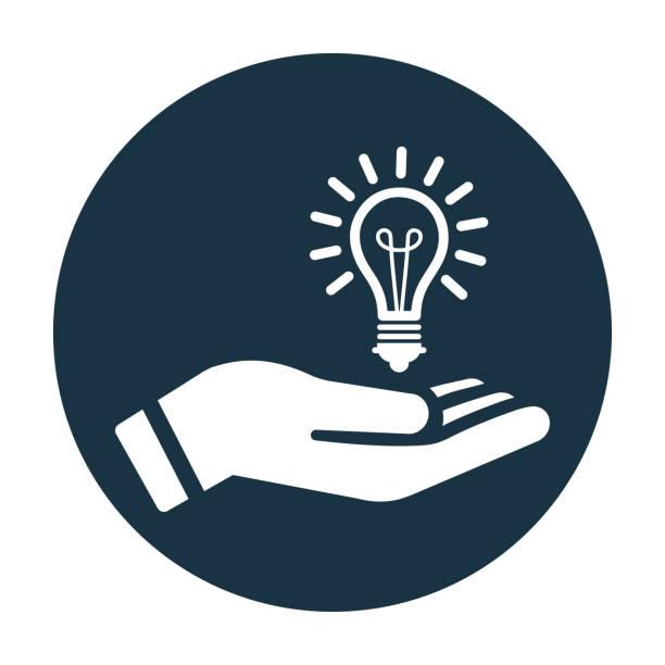 ilustraciones, imágenes clip art, dibujos animados e iconos de stock de pensamiento empresarial, icono vectorial de idea creativa - conceptos y temas
