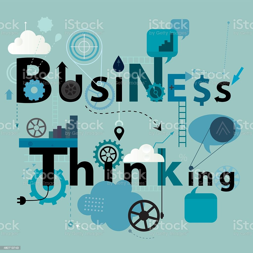 Business Thinking Sign royalty-free stock vector art