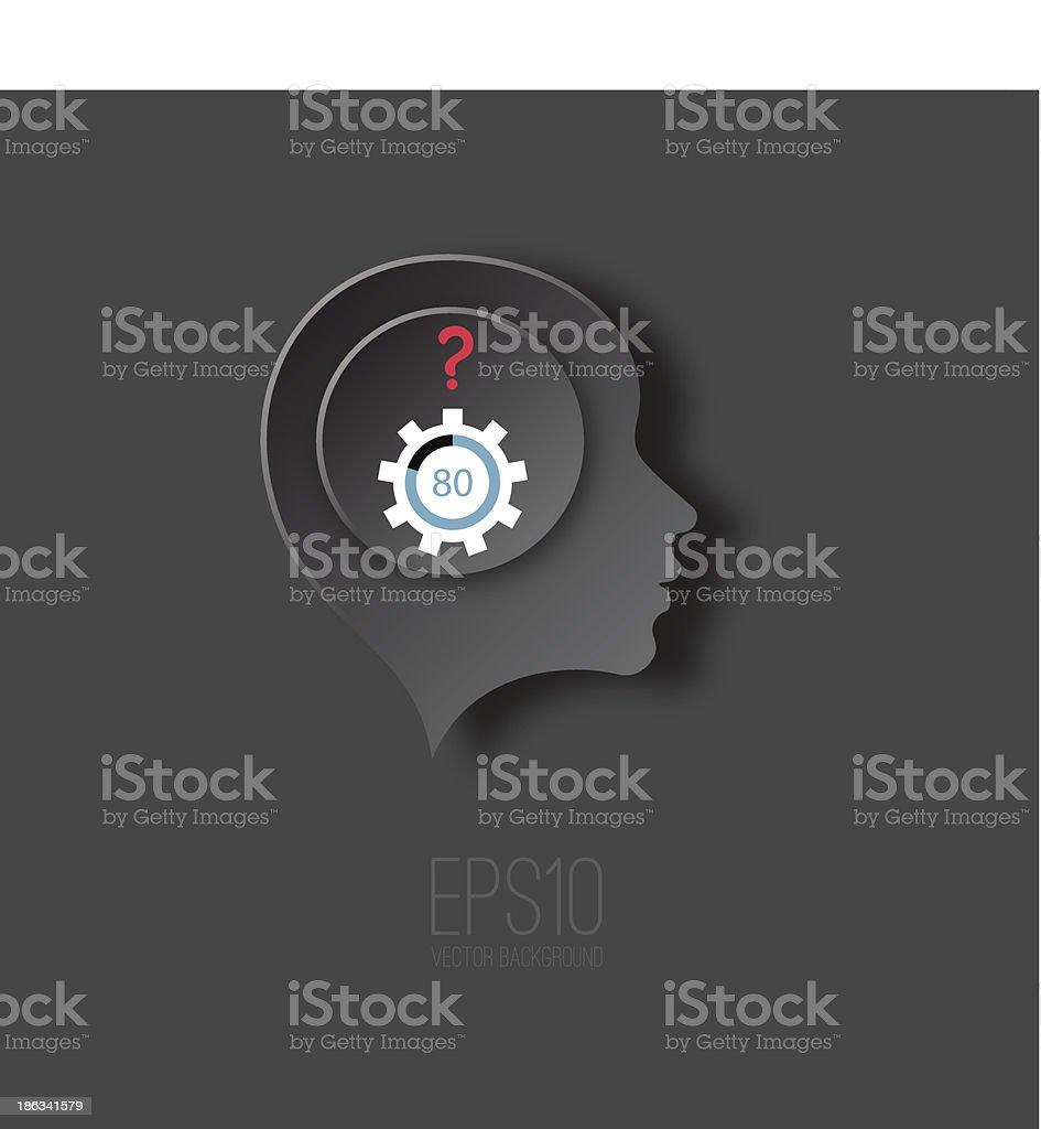 Business Thinking vector art illustration