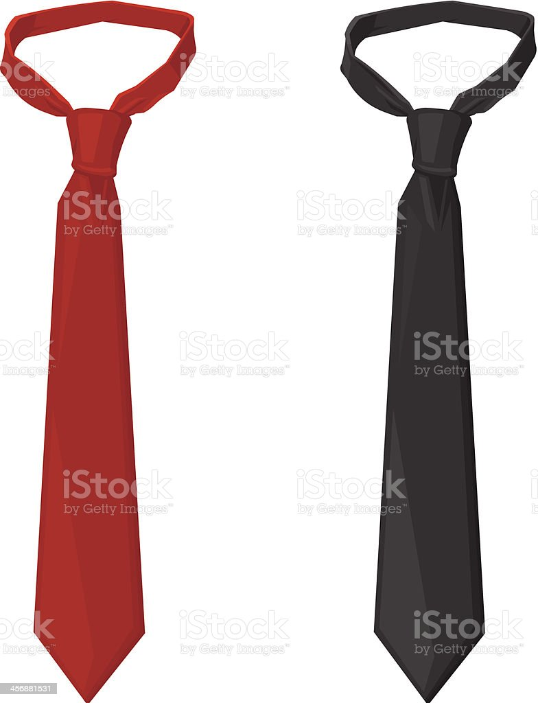 Business Tie vector art illustration