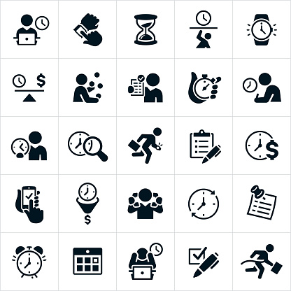 Business Time Management Icons
