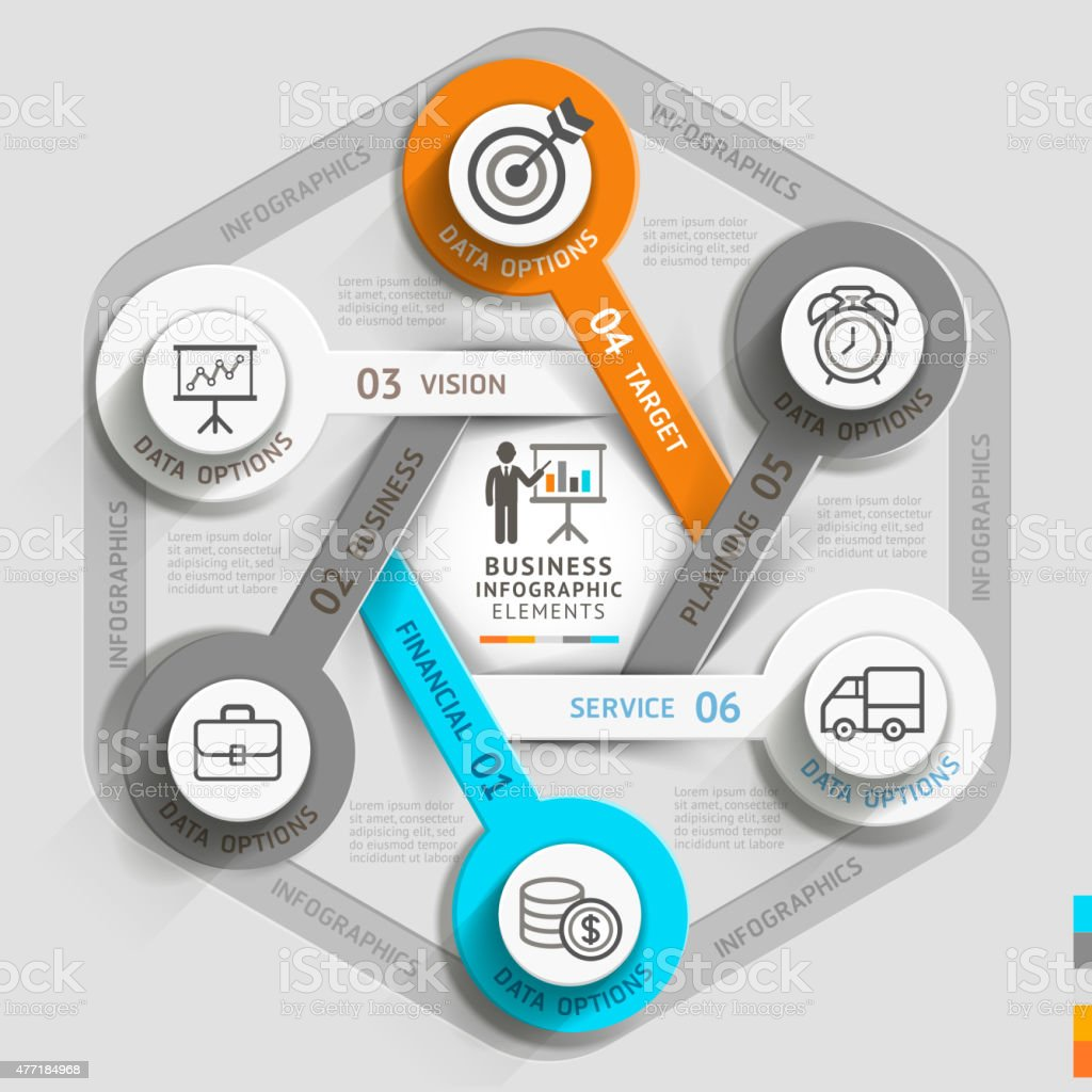 Zeitachse Business infographic template. – Vektorgrafik