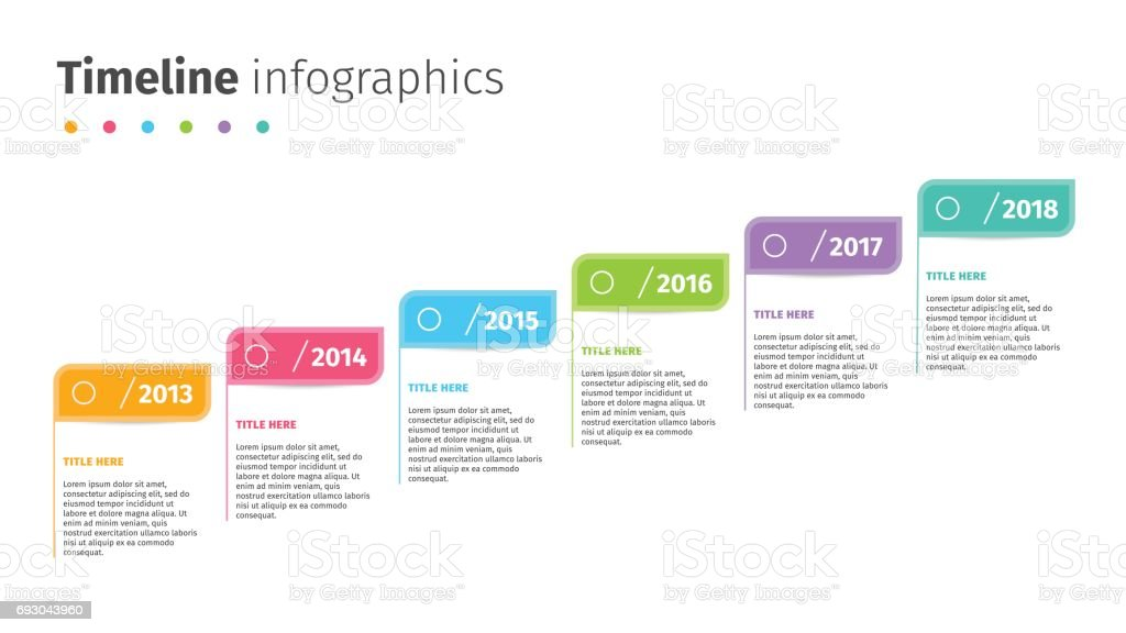 Business Timeline With Step Flags Infographics Corporate - Business timeline template