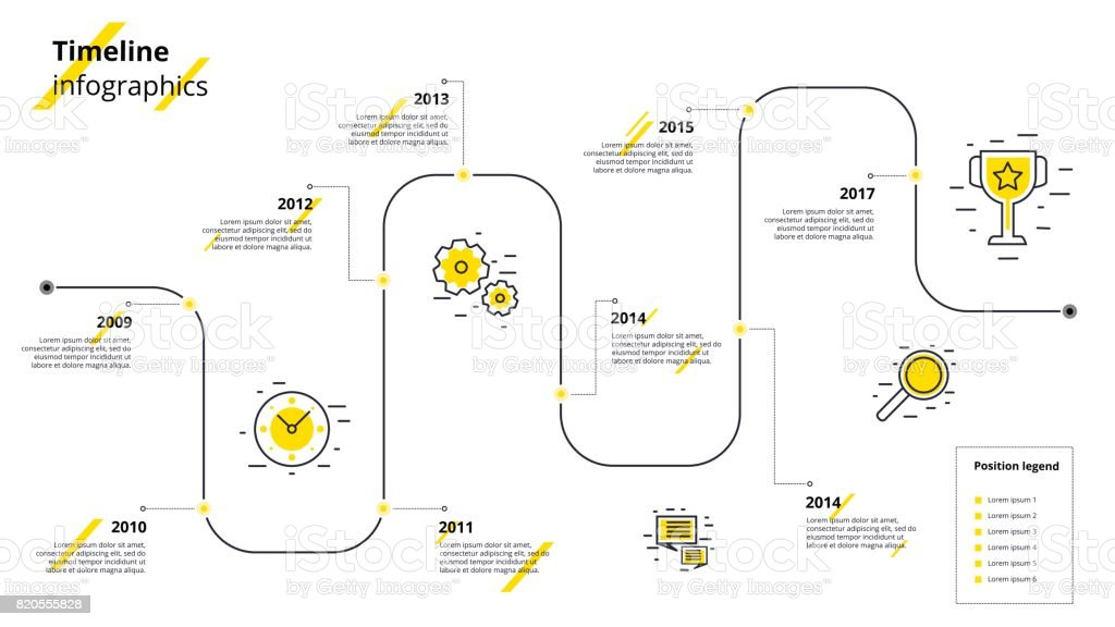 Business timeline workflow infographics. Corporate milestones graphic elements. Company presentation slide template with year periods. Modern vector history time line design. royalty-free business timeline workflow infographics corporate milestones graphic elements company presentation slide template with year periods modern vector history time line design stock illustration - download image now