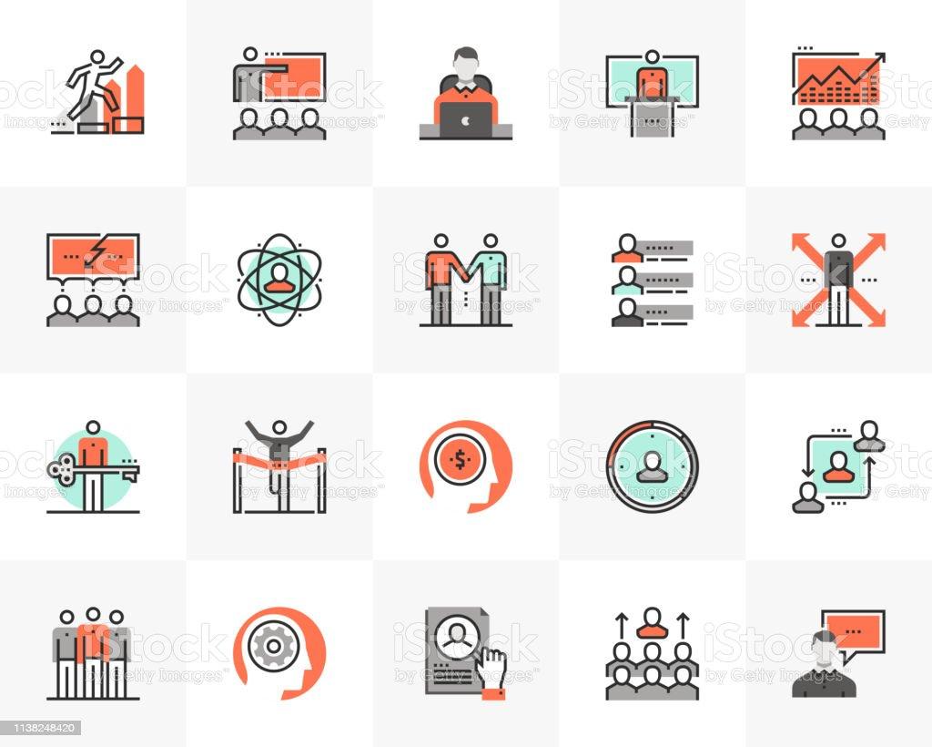 Business Training Futuro Next Icons Pack - Grafika wektorowa royalty-free (Aspiracje)