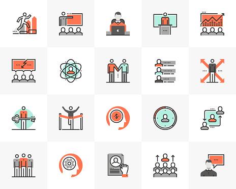 Business Training Futuro Next Icons Pack - Stockowe grafiki wektorowe i więcej obrazów Aspiracje