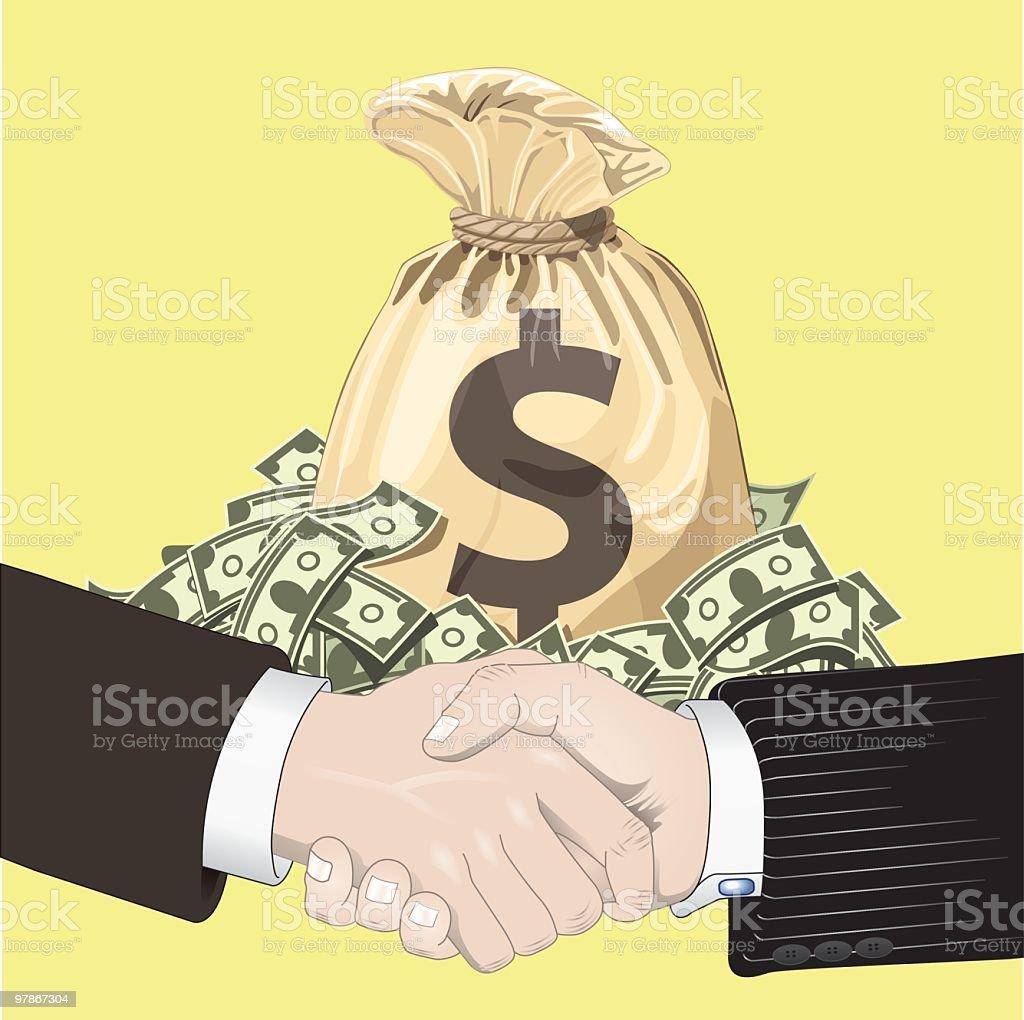 Business transaction royalty-free stock vector art