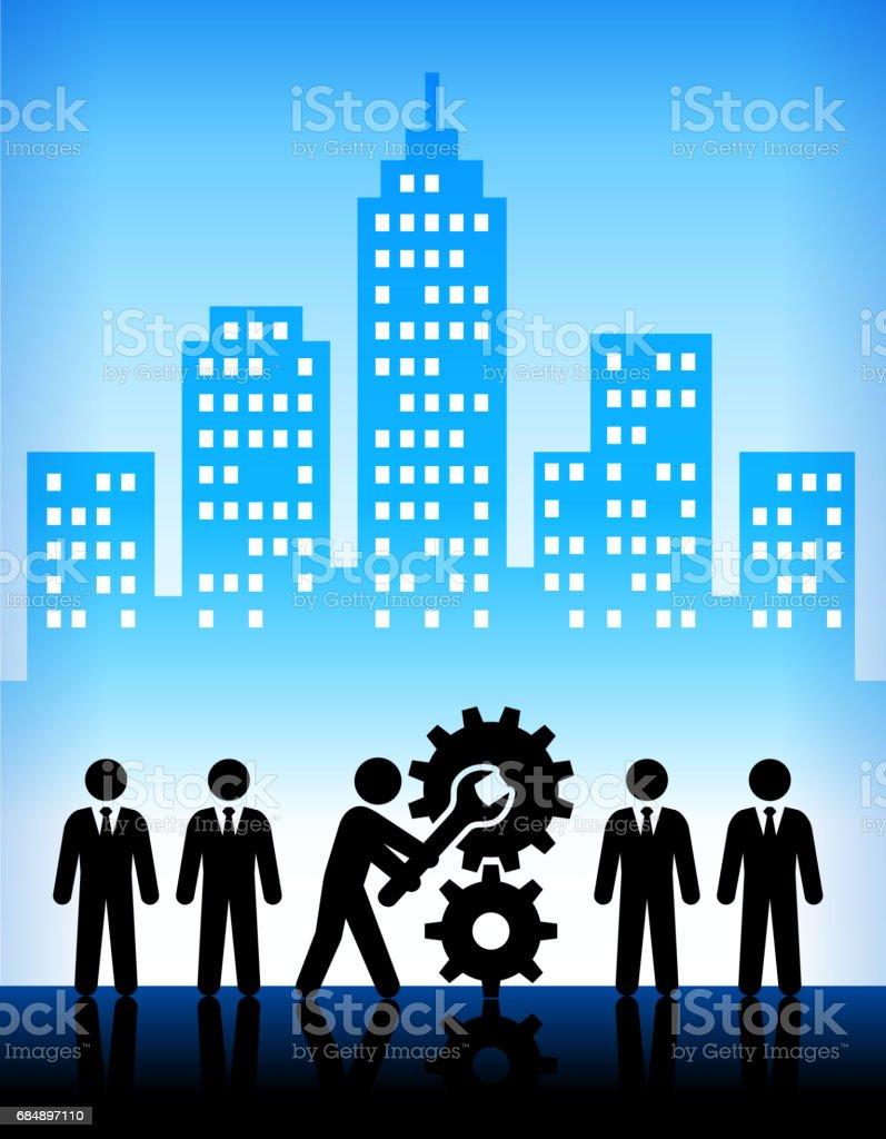 Business Transformation moderne Stadt Hintergrund Lizenzfreies business transformation moderne stadt hintergrund stock vektor art und mehr bilder von anzug