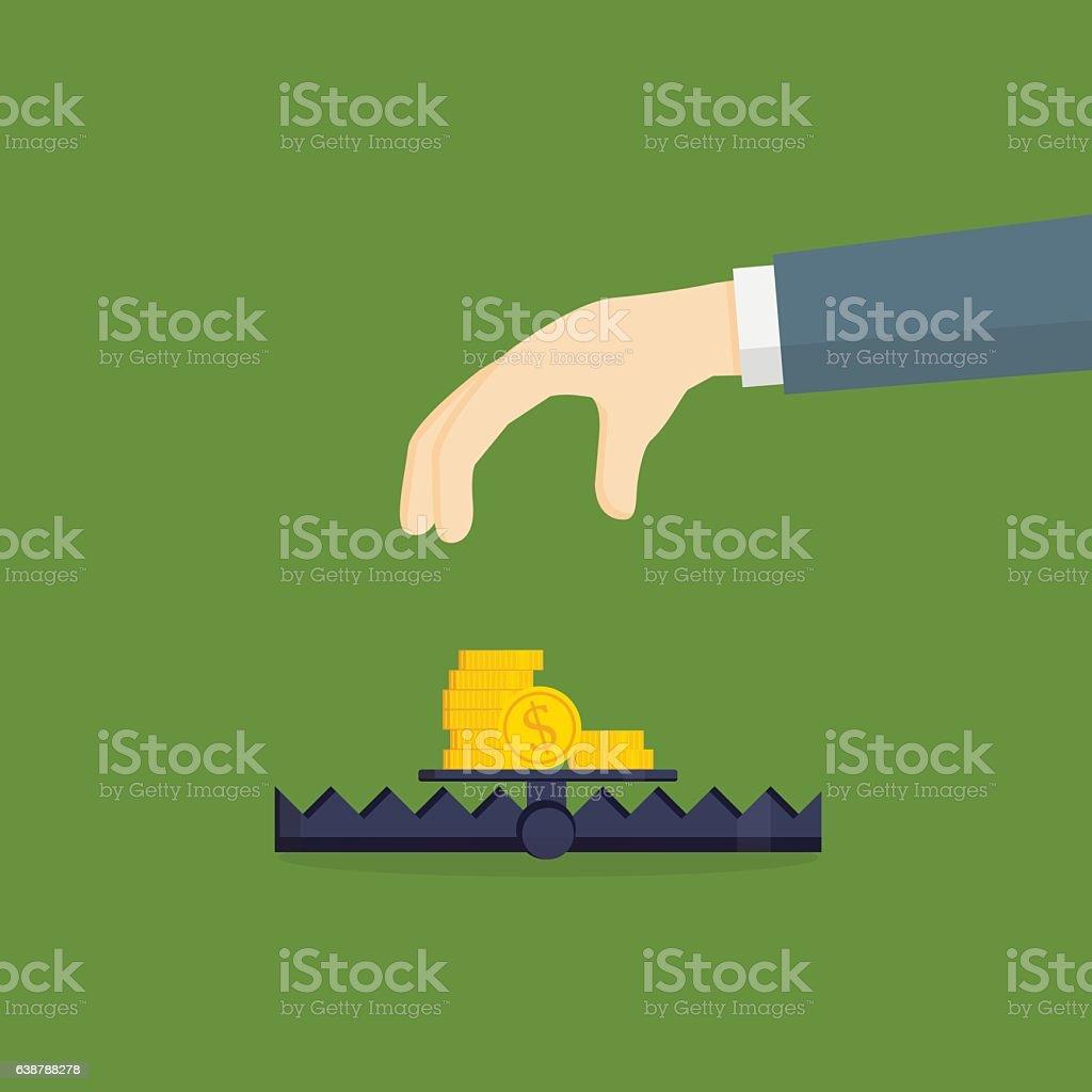 Business Trap, Money Trap vector art illustration