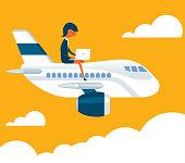 Business travel - Businesswoman