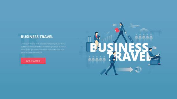 business travel hero banner - business travel stock illustrations, clip art, cartoons, & icons