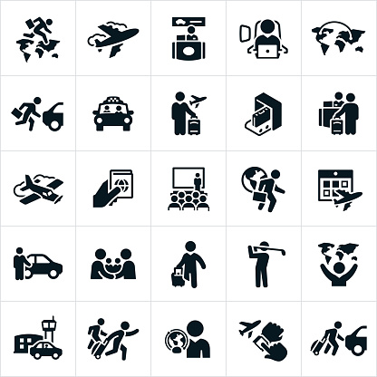 Business Travel Icons