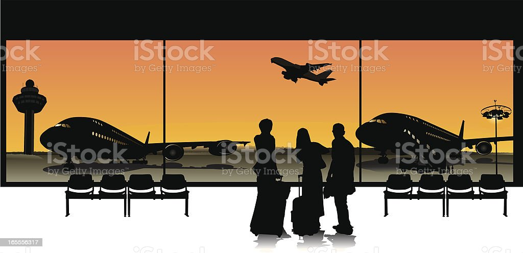 Business Travel royalty-free stock vector art