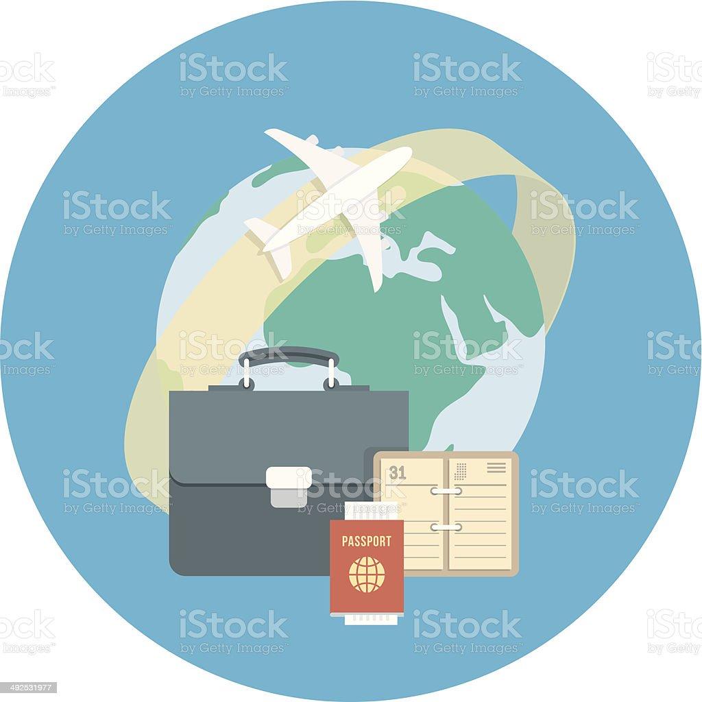 Business Traveling Concept vector art illustration