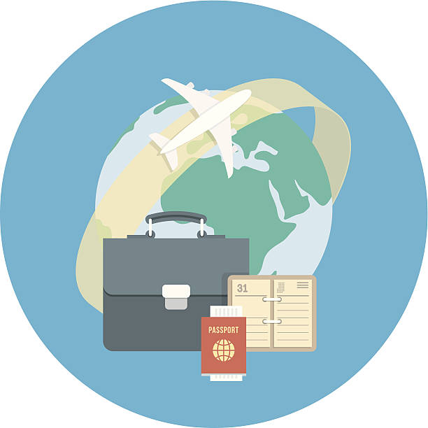 business traveling concept - business travel stock illustrations, clip art, cartoons, & icons