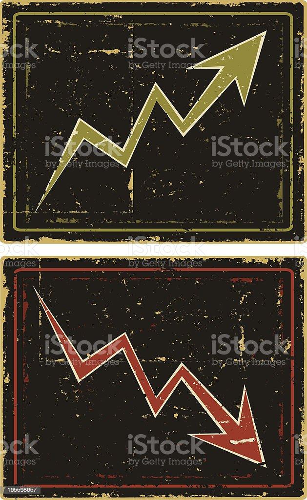 Tendências de negócios setas ilustração de tendências de negócios setas e mais banco de imagens de abaixar royalty-free