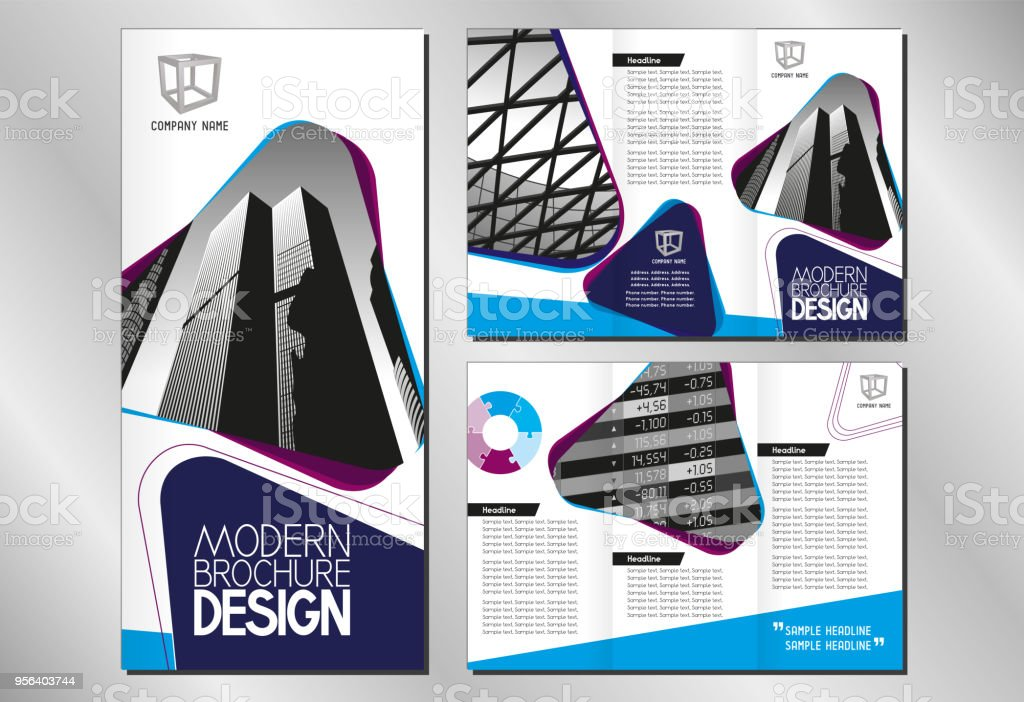 Art Flyer Template | Business Trifold Brochure Flyer Template Dl Format Stock Vector Art