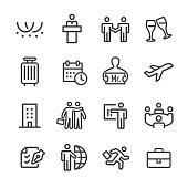 Business Trip Icons - Line Series