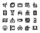 Business Trip Icons Vector EPS File.