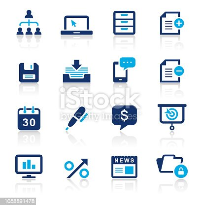 An illustration of business two color icons set for your web page, presentation, apps and design products. Vector format can be fully scalable & editable.