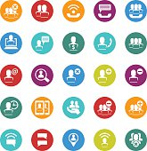 Business user icon set