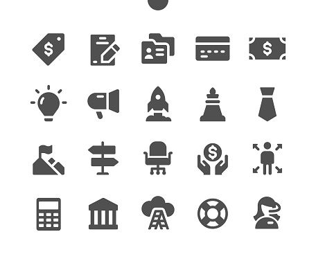 Business v6 UI Pixel Perfect Well-crafted Vector Solid Icons 48x48 Ready for 24x24 Grid for Web Graphics and Apps. Simple Minimal Pictogram
