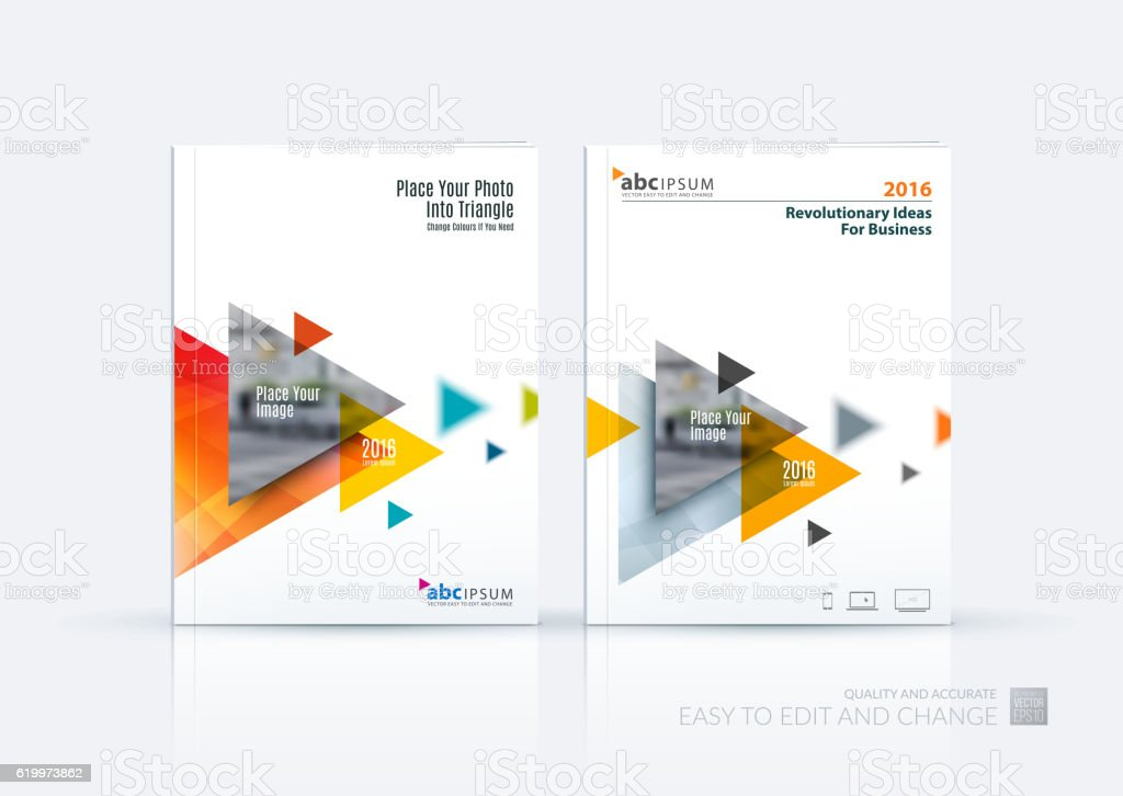 Business Vector Brochure Template Layout Cover Design Annual R Stock