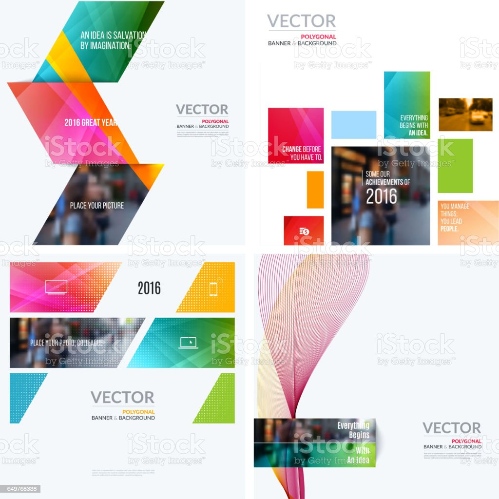 Business Vector Design Elements For Graphic Layout Modern Abstr ...