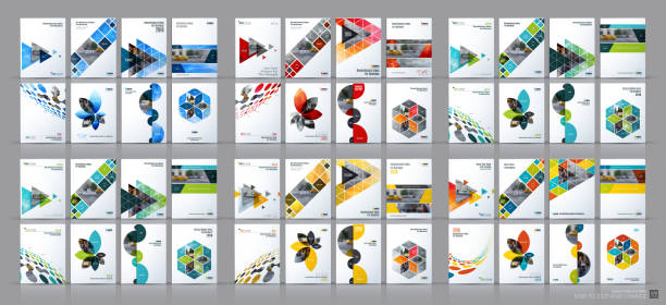 Business vector mega set. Brochure template layout, cover design vector art illustration