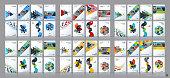 Business vector mega set. Brochure template layout, cover design