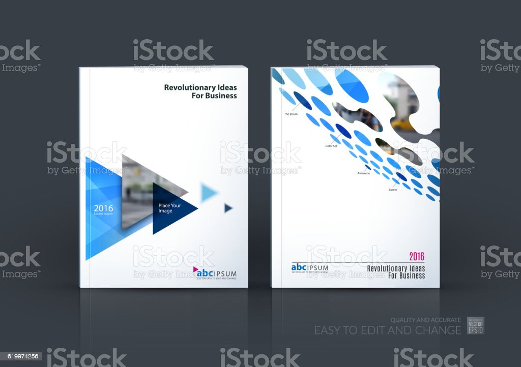 Business vector set. Brochure template layout, cover design annu vector art illustration