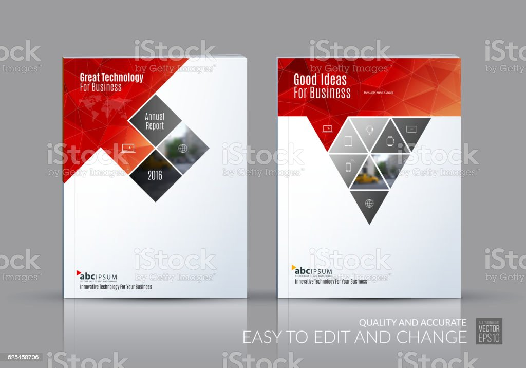Business Vector Set Brochure Template Layout Cover Design Annu Stock