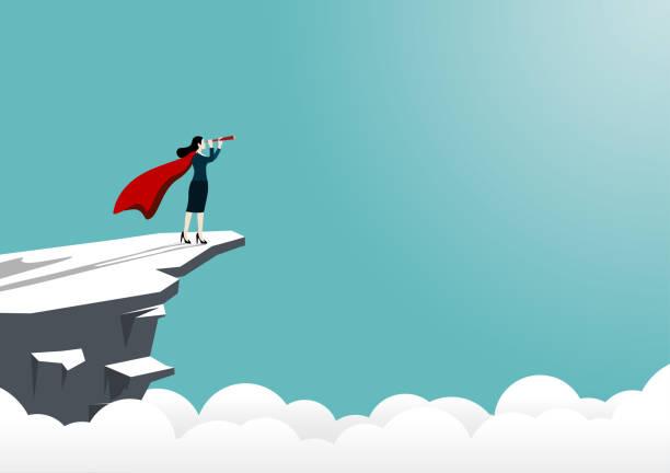 ilustraciones, imágenes clip art, dibujos animados e iconos de stock de visión de negocio y objetivo - mountain top