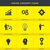 Business Vision Concept Icons Set